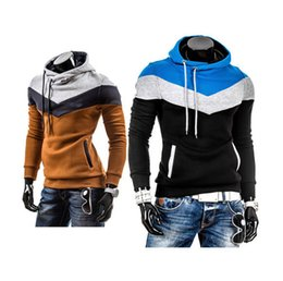 Wholesale Orange Fleece Jacket Wholesale - Wholesale-New man hoody casual sweatshirt mens brand sports suit 7color fleece hoodie jackets men sportswear men hoodie sweatshirt M-XXXL