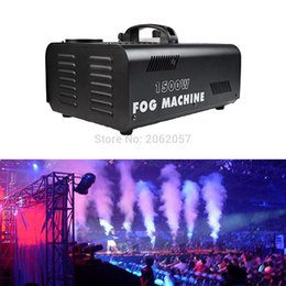 Wholesale Smoke Machine Dmx - Wholesale- High quality 1500W remote control gas column fog machine disco DJ DMX jet smoke machine professional lighting