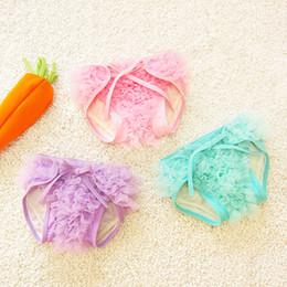 Wholesale Large Pieces Cotton - Princessc Baby Girl's Beachwear Children Clothes Girl Swimwear Lace Tutu Gauze Veil Cotton Vercro Cute Pants Briefs Pink Blue Purple A5155