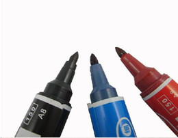 Wholesale Alcohol Ink Markers - Wholesale-black Blue red oily marker pen alcohol ink novelty permanent marker wholesale promotion