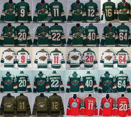 Wholesale eric staal jersey - 2018 Hockey Minnesota Wild Jersey 3 Charlie Coyle 9 Mikko Koivu 11 Zach Parise 12 Eric Staal Ryan Suter 64 Mikael Granlund Nino Niederreiter