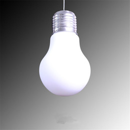 Wholesale Led Big Light Bulbs - Big Bulb Light Simple Pendent Lights Bulb Pendant Light Dia 15 25 30cm Pendent Lamp Gold Silver Milk White Color E27 Bulb Indoor Lighting