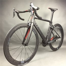 Wholesale Fibre Fiber - Leadnovo Complete Full Carbon Fiber Road Bike Racing Cycling,T800 Carbono Fibre Frameset,Black-Red Color,3D three-dimensional