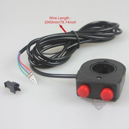 Wholesale E Lock - Wholesale Brand New Double Lock Headlight Switch E-bike Electric Bicycle Scooter With High Quality Free Shipping