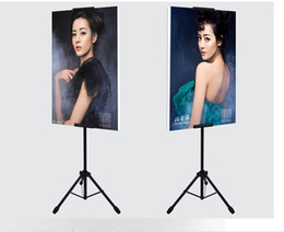Display porta poster online-POP Metal Tripod Bedframe Hanging Banner Up Display Supporto telescopico Poster Stand Superficie di cottura Smalto opaco 2 set Buon imballaggio