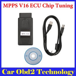 Wholesale Edc16 Peugeot - New Arrival MPPS V16 ECU Chip Tuning for EDC15 EDC16 EDC17 Inkl CHECKSUM Read And Write Memory Free Shipping