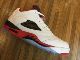 Wholesale Color Rhinestone Shoes - Retro 5 Low Fire Red Alternate Low LOW RETRO CNY CHI Fire Red Bel Air basketball shoes Olympic french 3 color retro 5S sneaker
