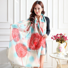 Wholesale Cashmere Gloves Sale - Wholesale-Factory Direct Sales Fall 100% New Full Cashmere Scarf Of The Dandelion - Color