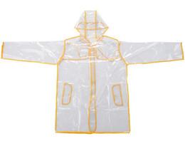 Impermeables al aire libre online-Nueva EVA impermeable transparente con cinturón largo impermeable para mujer Impermeable Chaqueta Rompevientos Poncho de lluvia al aire libre