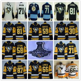 Wholesale Boy Blue - Youth Pittsburgh Penguins 87 Sidney Crosby Mario Lemieux Evgeni Malkin Letang Phil Kessel Guentzel 30 Matt Murray Black Kids Hockey Jerseys