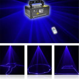 Wholesale Mini Laser Dmx - Mini 450mw Blue DMX 512 Remote Sound Projector Stage Equipment Light DJ KTV Show Holiday Laser Lighting DM-B450