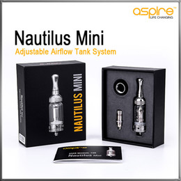 Aspire Nautilus Mini Tank Clearomizer Kit 2 ml Pyrex Glass Control de flujo de aire con Nautilus BVC Coil reemplazable E Electronic Cigarette Atomizer desde fabricantes