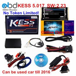 Wholesale Honda Tuning Kit - KESS V2 5.017 ECU Chip Tuning Tool No Tokens Limited KESS V5.017 Master Version Tuning Kit Free EMC Titanium As Gift