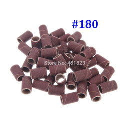Wholesale Pedicure Sanding - Freeshipping 1000pcs pack Nail art Sanding Bands for Manicure Pedicure Nail Drill Machine sandpaper grit:#180 nail tools
