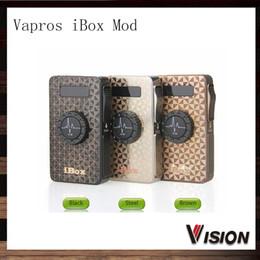 Wholesale Vw Display - Vision Vapros iBox Mod 1500mAh Ecigarette Battery 25W VV VW Box Mod With OLED Display Multi-functional MOD 100% Original