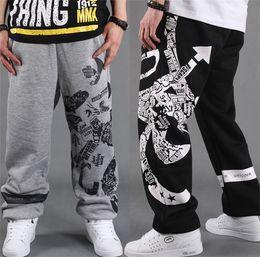 Toptan-Siyah Cuma! Rahat Erkek Pantolon Dans Hip hop Basketbol, Spor Harem Pantolon Ter Joggers Mens Baggy Baskılı Pantolon supplier mens baggy harem pants black nereden mens baggy harem pantolon siyah tedarikçiler