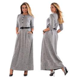 herbst sommer charmante kleider Rabatt Großverkauf der fabrik 2017 frühling herbst plus größe L-6xl großen yard kleid elegante reine farbe langärmelige hoch- taillierte kleid frauen stil YC397