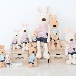 Wholesale Cheap Suits China - Cheap Cute Rabbit Wearing Navy Suit ToysGifts Stuffed Animals &Plush Toys Free Shipping Made In China