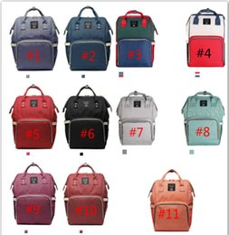 Wholesale Free Baby Nappies - Mummy Maternity Nappy Bags Diaper Bag Large Capacity Baby Bag Travel Backpack Nursing Bags Diaper Backpack DHL Free Shipping