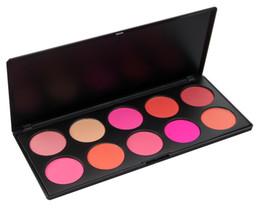 Wholesale Makeup Blusher Products - Wholesale-Charm 10 Color brand Makeup Blush Face Blusher Powder Palette Cosmetics Free Shipping Professional Makeup Product 1pcs
