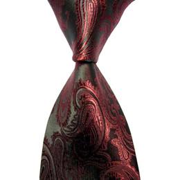 Wholesale Men S Silk Ties Polka - 10pcs man ties 6CM Skinny Tie Pulm Paisley JACQUARD WOVEN Necktie Necktie men marriage wedding gravata slim ties new 2016 collar silk ties