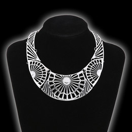 Wholesale Tibetan Style Necklace Wholesale - Wholesale-Ethnic collar necklace Tibetan silver imitation Turkish traditional jewelry style minority neclace mandala supernatural jewelery