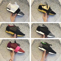 Wholesale Cheap Ladies Sneakers - Luxury Brand Designer Arena Casual Shoe Man Woman Race Runner Shoes Ladies Fashion Mixed Colors Mesh Black Red Cheap Sneaker