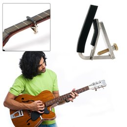 Wholesale Tuning Keys For Electric Guitars - Wholesale- Change Key Metal Clamp GuitarTrigger Tune Quick Capo For Acoustic Electric Classic Guitar