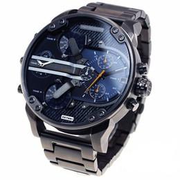 Wholesale men fashion dresses - DZ 7331 Luxury Brand Watch For Man Big Dial Military Wristwatch 2 time zone Men Sports Watch Fashion Dress Watches Casual Quartz Watch reloj