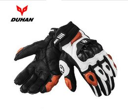 Wholesale Duhan Racing - DUHAN Motorcycle leather gloves Male full finger gloves Off-road racing gloves carbon fiber Motorbike gloves Drop resistance M L XL XXL