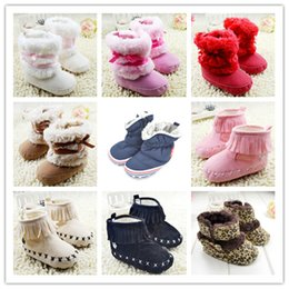 Wholesale Shoes Boots For Toddler - Newborn Baby Girls Boy Bowknot Snow Boots Toddler Shoes Prewalker Winter Warm Fleece Boots 0-18M for free shipping