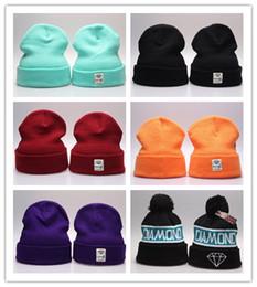 Diamond Supply Co Beanie Chapeau Populaire Skullies chaud Bonnets Hommes Et Femmes Hiver Tricoté Lettre Cap 20 Couleurs Gorras chapeaux de laine ? partir de fabricateur
