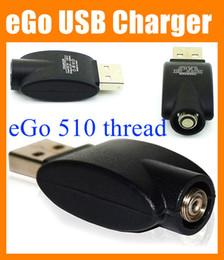 Wholesale Vaporizer Adapter - Black eGo USB 510 thread Charger Wireless Electronic Cigarette battery charger adapter for all ego 510 thread vaporizer pen battery FJ001