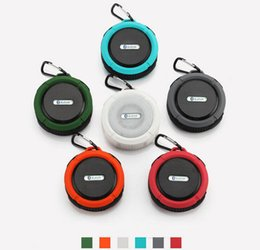 Wholesale Suction Cup Portable Speaker - C6 IPX7 Outdoor Sports Shower Portable Waterproof Subwoofer Wireless Bluetooth Speaker Suction Cup Handsfree For iphone iPad PC Phone