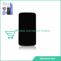 Wholesale Lg Optimus New - Wholesale-new original For LG Optimus Google Nexus 4 E960 LCD display with Touch Screen Digitizer glass Assembly+ frame +tools+3M Sticker