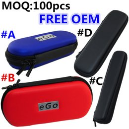Wholesale E Cig Oem - Free OEM Colorful EGO carrying case e cig case with ego logo different size for options Free Laser one color logo and ship by DHL free