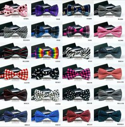 Wholesale Wholesale Ties Bowties - 200 PCS lot Brand Fashion Bow Tie For Men Red Ties Gravata Borboleta Blue Color Men Bowties 32 Colors