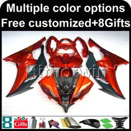 Wholesale Yamaha R6 Orange - 23colors+8Gifts ORANGE motorcycle cowl for Yamaha YZF-R6 2008-2016 YZFR6 2008 2009 2010 2011 2012 2013 2014 2015 2016 ABS Fairing