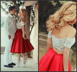 Wholesale Cheap Puffy Skirts - 2015 New Arrival Tea-Length Cheap Red Satin Skirts Princess Ruched Pleated Skirt Bouffant Puffy Skirt Sexy Long Skirts