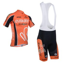 Wholesale Euskaltel Team - 2013 euskaltel Team Cycling Jersey Cycling Wear Cycling Clothing+shorts bib suite-euskaltel-1A Free Shipping