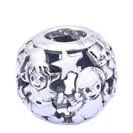 Стерлингового серебра подвески 925 Эль один мир Европейский подвески для Pandora браслеты DIY бусины аксессуары серебряные ювелирные изделия от