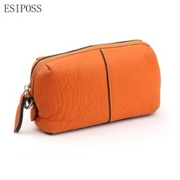 Wholesale Faux Leather Storage - Women Cosmetic Bag Makeup Bag Beauty Storage Brush Organizer Make Up Genuine Leather Pouch Clutch Toiletry Kit Zipper Wristlet