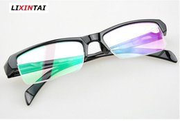 Wholesale Polycarbonate Lights - Factory price Various model Half frame ultra light finished myopia lens Unisex With degrees Shortsighted Myopia Read glasses Spectacle frame