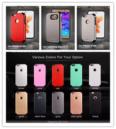 Wholesale Red Suitcase - Black Luggage Suitcase Carrier Slim Shockproof +Soft TPU Silicone Hard PC armor Case For Iphone 5 6 6plus for samsung galaxy s6 note5