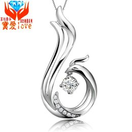 Wholesale Supply Chain Accessories - new S925 silver jewelry necklace jewelry inlaid Phoenix micro Amoy first clavicle accessories supply