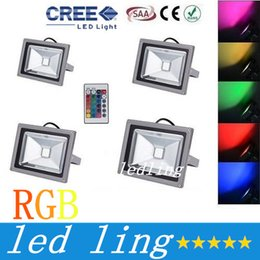Wholesale Outdoor Rgb Controller - RGB Waterproof Led Flood Lights Outdoor 10W 20W 30W 50W Led Landscape Lighting Memory Color Changing Led Floodlights AC 85-265V + Controller