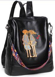 Wholesale Lace Fr - Backpack shoulder bags wholesale Multifunctional bag original designer classical embroidery handbag women tote purse IT FR wallet leather US