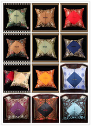 Wholesale Unique Seats - Unique Ethnic Patchwork PillowCase Latest Chinese knot Luxury High End Natural Real Silk Brocade Zipper Cushion Covers for Seat Chairs Couch