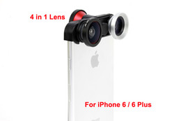 angle eyes Promo Codes - New Arrival mobile phone 4 in 1 180 degree front fish eye + Fisheye Lens + Macro Len + Wide-angle Lens for iphone 6 or 6 plus