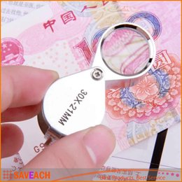 Wholesale Diamonds Box Packaging - Hot sales 30x21mm Triplet Jewelers Eye Loupe Magnifier Magnifying Glass Jewelry Diamond With Retail Packaging Box
